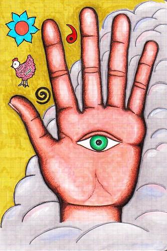 el ojo en la mano