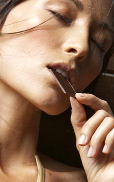 Mitos sobre as mulheres - Elas trocam o sexo pelo chocolate