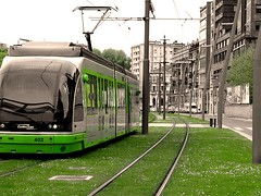 green transit bed in BilBao (by: Esti Alvarez, creative commons license)