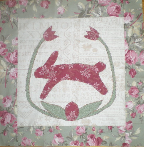 Folk Art Easter quilt top