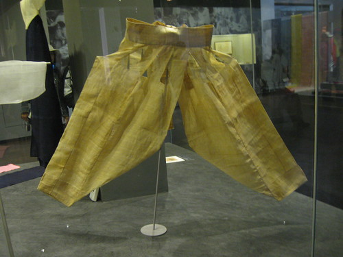 traditional split crotch pantaloons, worn under hanbok