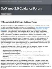 DoD, Web 2.0 Guidance Forum