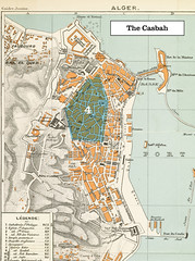 1888 Plan of Algiers, Algeria--Casbah region