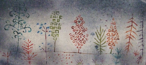 "Paul Klee: ""Row of trees in the park"", detail"