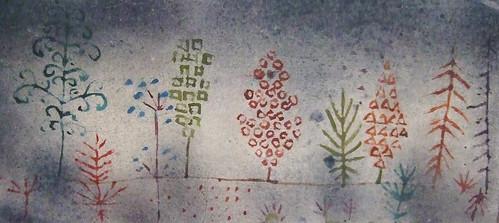 "Paul Klee: ""Row of trees in the park"", detail"