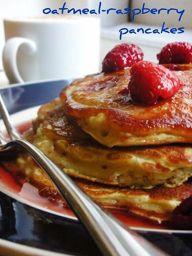 oatmeal-raspberry pancakes