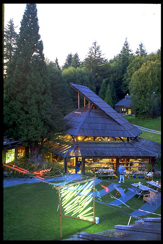 Fluorescent light installation at Pilchuck by Carolyn Speranza