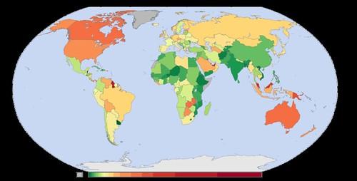 Mapa emisiones CO2 per cápita