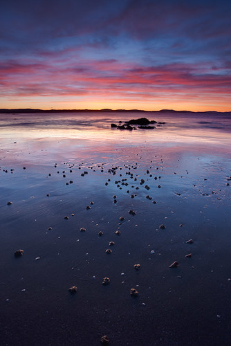 Roaches Beach Sunrise Vivid Blue by BrendanDavey