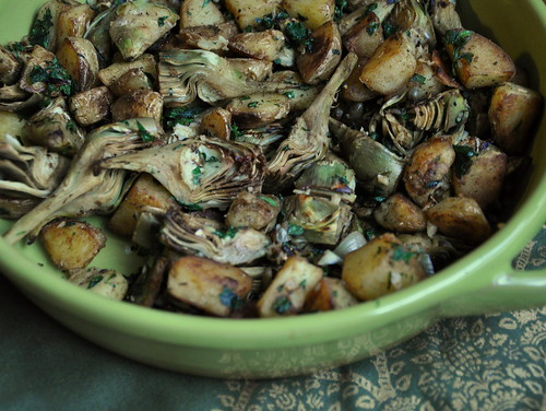Artichoke and Potato Hash