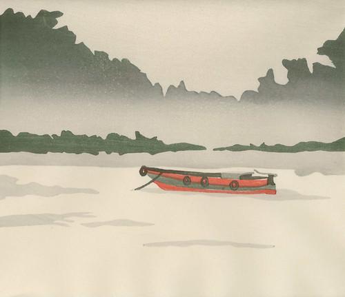Boat - Moku Hanga (test print)