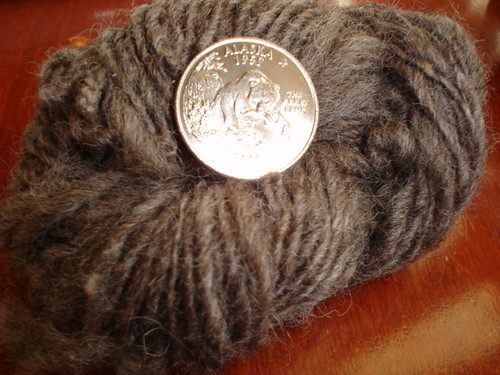 First handspun wool - spinning wheel