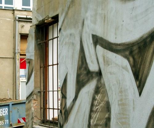 Wenn Wände abgebrochen werden, sterben auf Graffitis ...