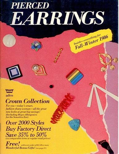 Pierced Earrings, Fall-Winter 1986