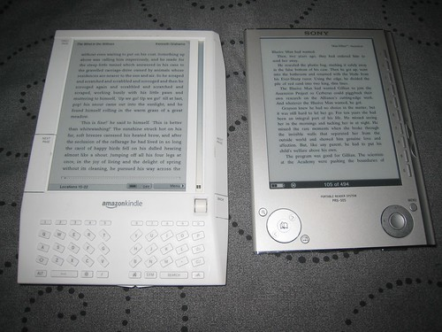 Amazon Kindle 1 and Sony Reader PRS-505