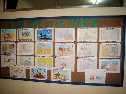 Algunos de los trabajos realizados por el alumnado del Centro