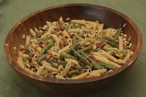 Penne with Green Beans & Pine Nuts