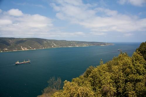 Overlooking the Bosphorus strait