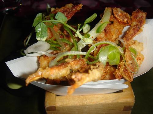 Soft shell crab with jalapeño mayonnaise