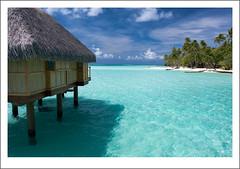 Las vistas desde el overwater bungalow en Bora...