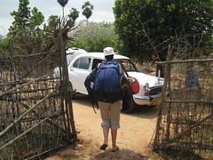 Taxi waiting for our goodbye to Sadhana Forest