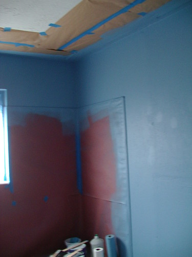 1/2 half tint primer in bathroom