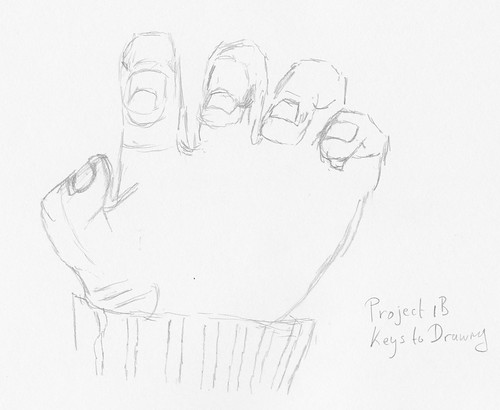 Keys to Drawing - Project 1-B - Hand, 2nd attempt