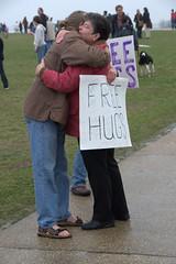 Free Hugs on the Mall