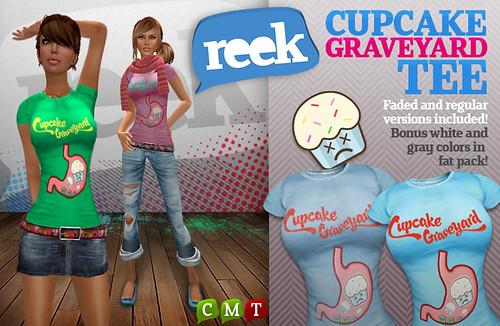 Reek - Cupcake Graveyard Tees Ad