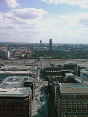 Tate Modern, Millenium Bridge and Shakespeare's Globe from St Paul's Cathedral