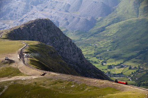 The railway to the summit of Snowdon