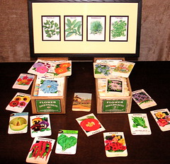 Lithograph seed packets
