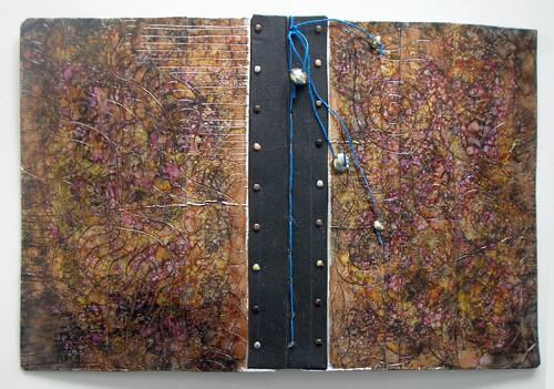 finished cover, junk journal 1 (c) 2009, Lynne Medsker