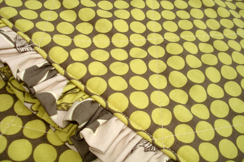 ruffle quilt flat