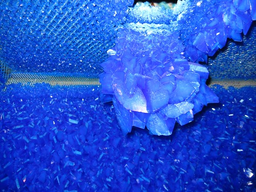Large copper sulphate crystal from Roger Hiorns Seizure installation