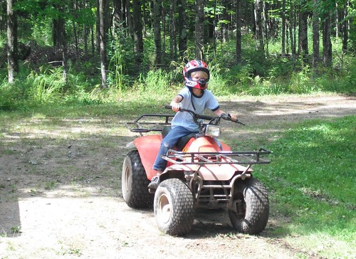 Owen Revs His ATV