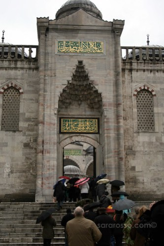 A side entrance to the Blue Mosque, Istanbul, Turkey