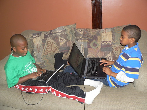 Hunter Street - Jacal and Tyrek On Computers