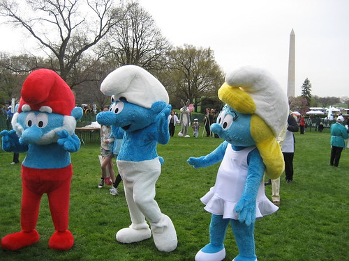Smurfs and Washington Monument