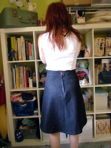 ginger skirt back