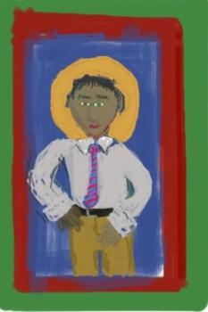 Sketch of teacher-saint