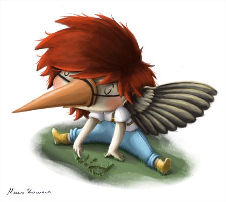 El niño que quería ser pájaro.