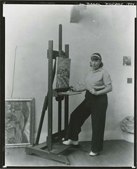 Nan Mason, American painter, 1896-1982, at wor...