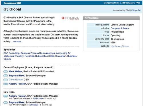 Company page of G3 Global on Linkedin.