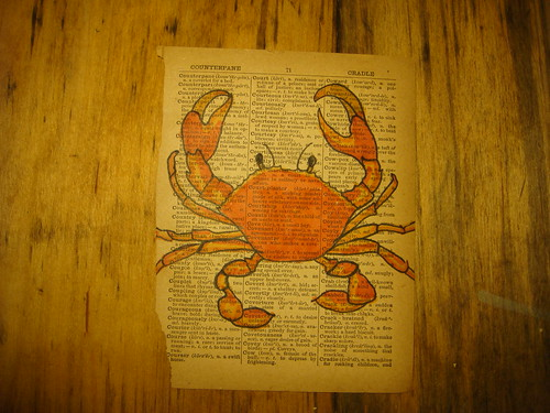 C is for crab.