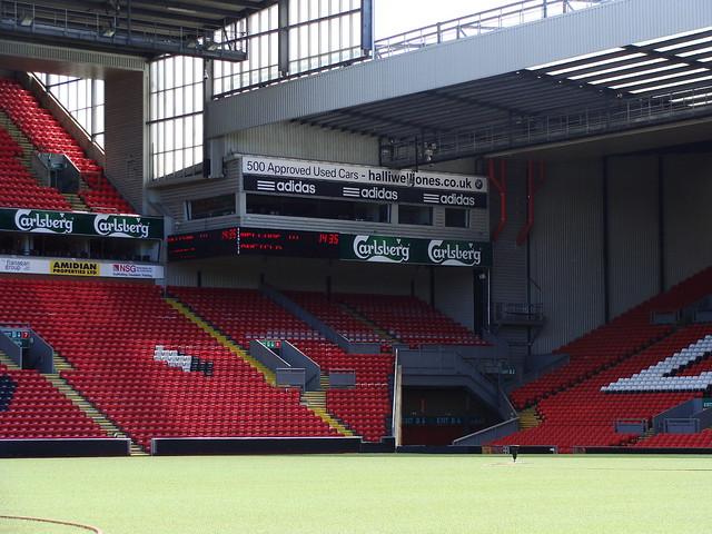 Corner and TV studio at Anfield