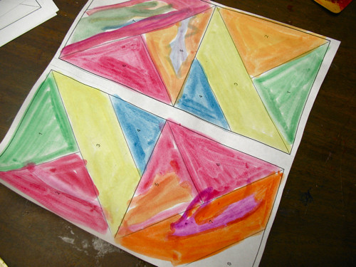 q-tip painting quilt blocks