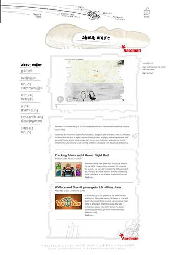 aardman.com website screengrab