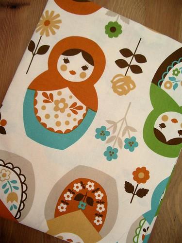 Matrioshka Fabric by Kokka Japan