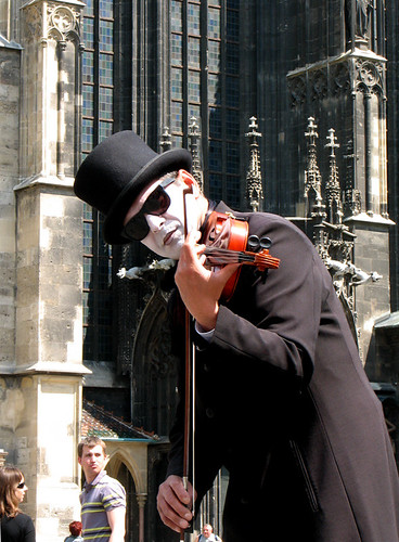 A street performer in Vienna by you.